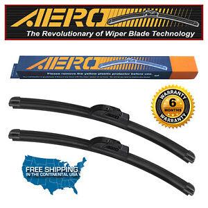 """AERO Acura Integra 2001-1994 22""""+18""""+19"""" Premium Beam Wiper Blades (Set of 3)"""