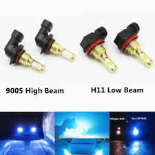 Combo 9005+H11 CSP LED Headlights Kit High Low Beam 8000K 100W 8000LM Lamps US