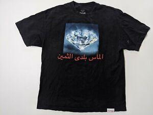 Diamond Supply Co. Arabic Writing Mens Faded Black XL Shirt
