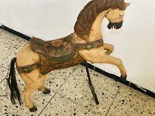 Antikes, altes Holzpferd - Karusellpferd - Schaukelpferd - Pferdefigur Antik