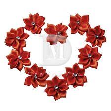 10pcs Satin Ribbon Flower Rosebuds Wedding Appliques Decoration BMRN0034