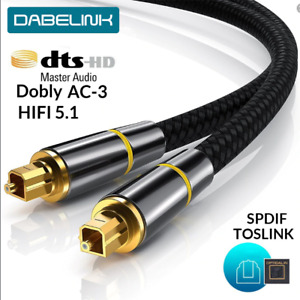 HIFI 5.1 Digital SPDIF Fiber Toslink Optical Audio Cable 1m 1.5m for TV box PS4