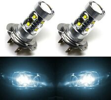 LED 50W H7 White 6000K Two Bulbs Fog Light Replacement Lamp Plug Play Fit