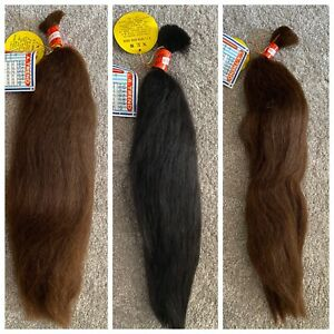 100% HUMAN HAIR BULK  -20 and 22 inches - LA TREND
