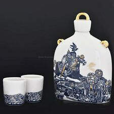 Russian Imperial Lomonosov Porcelain Wine set Slavic Decanter Bogatyr Epic hero