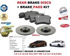 Für Renault Megane III Grandtour 2008-> Bremsscheiben Set Hinten+Bremsbelagsatz