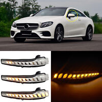 Dynamic Side Mirror LED Indicator Turn Signal Lights For Mercedes-Benz W205