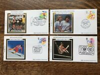 1988 Benham Gb Fdc's Set Of 4 CENTENARY OF SPORT