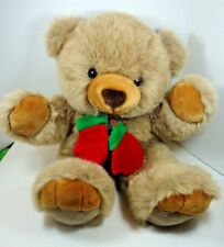 """24"""" Brown Christmas Teddy Bear Plush Red Mittens JCPenney Holiday Collection"""