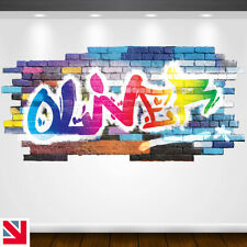 PERSONALISED CUSTOM NAME Wall Decal Sticker Vinyl GRAFFITI Kids Boys Girls