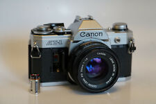 Excellent Canon AT-1 35mm Camera with 50mm F/1.8 Lens Working/tested clean READ