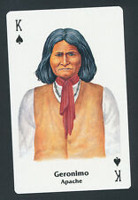 Geronimo Apache Native American playing card single swap king of spades - 1 card
