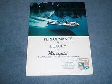 "1977 Marquis Ski Boats Vintage Ad ""Performance + Luxury = Marquis"""