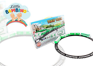 Electric train Classic Set for Children 24pcs sound effects and lights