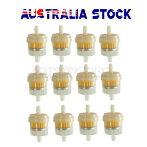 """12X Inline Gas Filter Fuel Filter 6MM-7MM 1/4""""Lawn Mower Small Engine Tools Hot"""