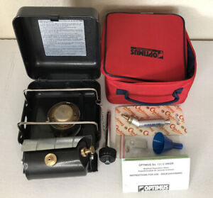 Vintage Optimus Hiker 111C Multi Fuel Camping Stove w/ Cover - New - Never Used!