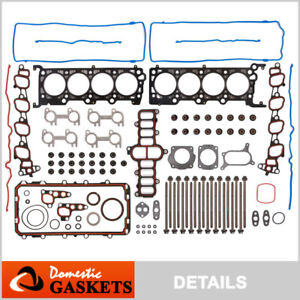 Fits 01-02 Ford Crown Victoria Mustang  Marquis 4.6L SOHC Full Gasket Set Bolts
