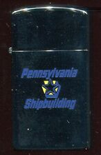 LIGHTER  Zippo  1982  Pennsylvania Shipbuilding  (Slim) NEW