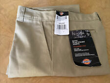 Dickies Boys Size 14Rg/26W Nwt! Beige Flat Front Pants Classic Fit!