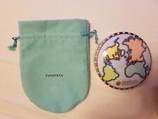 "Tiffany & Co. Japan 4"" Porcelain World Map Globe Trinket Box"