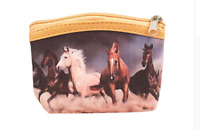 Women Kids Small Coin Purse Wallet Animal Picture Design Horse Style Supplies