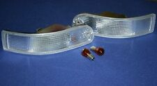 FOR PORSCHE 911 993 SET CLEAR EURO TURN SIGNAL LIGHTS WITH BULBS NEW 1994 - 1998