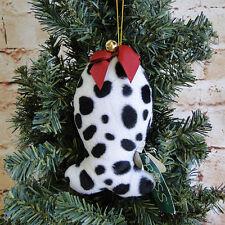 Vintage Retired Russ Berrie/Dalmatian Fish/Jingle Bell/Christmas Ornament/Pet