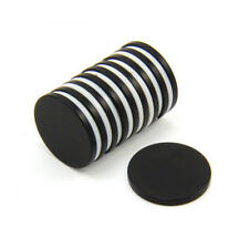 20mm dia x 2mm thick Black Epoxy N42 Neodymium Magnet - 2.6kg Pull (Pack of 100)