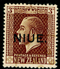 NEW ZEALAND - Niue SG27, 3d chocolate, FINE USED. Cat £38.