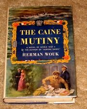 VINTAGE THE CAINE MUTINY BY HERMAN WOUK HB DJ 1952 EDITION NICE BOOK
