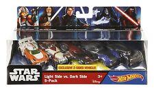 Star Wars The Force Awakens Hot Wheels LIGHT SIDE vs. DARK SIDE 5 Pack of Cars