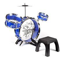 Big Band Toy Drum Set Kids Children Musical Instrument Playset Blue Red