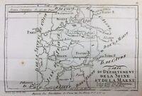 Seine and Marl 1790 Provins Brie Earl Meaux Moret Bray Rozoy Corbeil Lagny