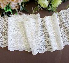 12.5 cm width Creamy White Stretch Lace Trim