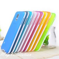 Transparent Color Soft Rubber TPU Case Skin Cover For Samsung Galaxy S5 SV I9600