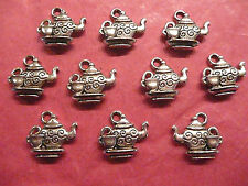 Tibetan Silver Teapot and Tea Cup Charms 10 per pack