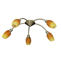 5 Arm Modern Energy Saving Chrome Ceiling Light Fitting Chandelier Spot Lights