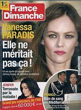 FRANCE DIMANCHE N° 3487--VANESSA PARADIS/JENIFER/MONACO