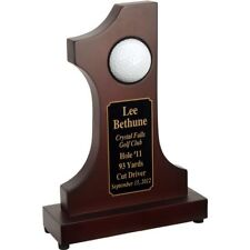 Customized Engraved Rosewood Hole in One Award Commemorative Trophy