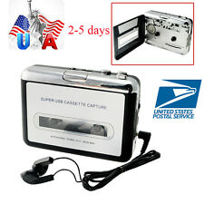 USA Portable USB Cassette Tape MP3 iPod CD Converter Capture Audio Music Player