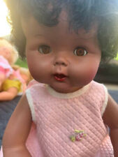 Vintage Eegee Black Ethnic Baby Girl Doll Drinks & Wets