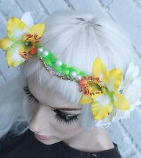 BEADED FOREHEAD FAIRY FLOWER CROWN HIPPY PASTEL GOTH GRUNGE INDIE HEADBAND
