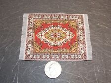 Dollhouse Miniature Floor Rug Rust Gold C 1:12 one inch scale F64 Dollys Gallery