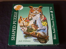The Watchers Jack Williams Bits Pieces Shaped Jigsaw Puzzle Owls 2006 COMPLETE