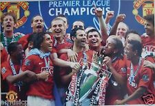 """MANCHESTER UNITED """"2007/2008 PREMIER CHAMPIONS"""" POSTER - Giggs, Ronaldo With Cup"""
