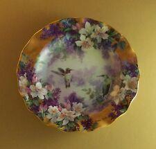 Lena Liu's Delicate Treasures WONDROUS WINGS Plate Hummingbird Floral Flowers