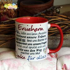 Tasse / Erzieherin -ROT- / Geschenk KITA Kindergarten Weihnachten Dankeschön