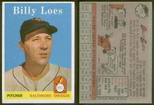 (8078) 1958 Topps 359 Billy Loes Orioles-EX