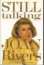 JOAN RIVERS SIGNED HC BOOK STILL TALKING Stated 1st Johnny Carson COA VG Melissa