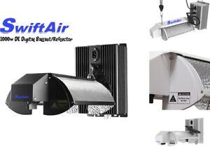 1000w Double Ended DE HPS Grow Light Adjustable Digital Ballast and Reflector